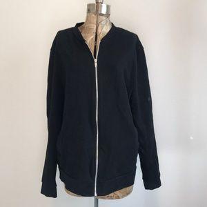 ASOS Black Zip Up Sweatshirt